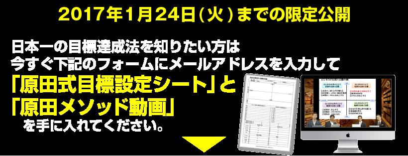 原田式目標設定用紙の書き方と原田隆史:原田式ソー …